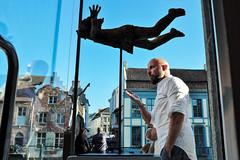 Freefall (Jeffrey De Keyser) Tags: gent ghent belgium street streetphotography hands statue falling freefall angel kraanlei blue art fuji usp spc spw apf sic scp psp nge ons vog eye wsp usg x ssk cre fnd fec sal saw 11