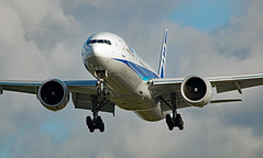 JA790A - Boeing 777-381ER - LHR (Sen Noel O'Connell) Tags: allnipponairways ana ja790a boeing 777381er 777 heathrowairport 27l lhr hnd nh211 ana211