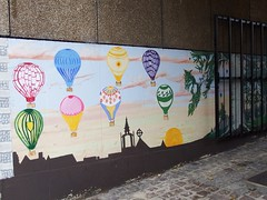 Cheery Mural (vw4y) Tags: mural balloons multicoloured skyline norwich silhouette streetart