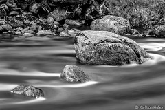 Yosemite Valley - The Merced River - 1676_B&W (www.karltonhuberphotography.com) Tags: 2016 bw blackandwhite california details flowingwater horizontalimage karltonhuber landscape leadinglines longexposure mercedriver monochrome motion naturalworld nature peaceful river riverbank rocks silkywater watersedge yosemite yosemitenationalpark yosemitevalley