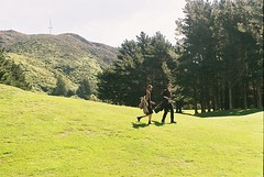 Fairway Boys (Denzel De Ruysscher) Tags: 35mm pentax colour film explore golf green nature sky
