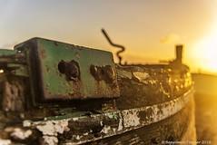 Thwart at sunrise (frattonparker) Tags: nikond600 tamron28300mm raw adoberaw9 cs6 colorefexpro4 frattonparker btonner dungeness wreck dawn sunrise dof tiller planks timbers clinker carvel hull hulk gunnels gunwhales flare