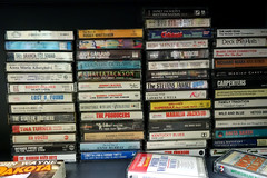 Goodwill Store, Coralville Iowa 11-17-16 03 (anothertom) Tags: coralvilleiowa goodwillstore aisle shopping consignment secondhandshop cassettetapes albums selection 80smusic 2016 sonyrx100ii