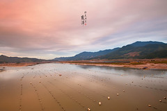 Xiapu () Tags: fujian xiapu coastline beaches river seaweed bamboo fishnets reflection beach sands nikon travel           seascape lake sunrise cloud sunset
