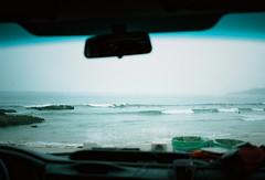 Crocro Beach (louis de champs) Tags: minoltasrt101 mdwrokkor35mm28 film kodak portra160 taghazout morocco beach surf wave van surfer
