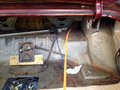 Wiring07 (john.and.kath) Tags: jrd ls ls2 l76 60l engine conversion 1965 chevrolet impala firewall hole wiring harness plugs relay ignition battery fuelpump reverse brake