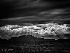 Amazing Light Rays BW (racefoto) Tags: arizona az desert getolympus landscape m43 nature outdoors rays sunbeams page unitedstates us