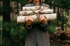 Pile up for fall! (gabster_ro) Tags: wood autumn cold fall rural forest outside outdoors countryside sweater log holding hand outdoor timber rustic stack planning stockphotos axe chopped birch sweatshirt copyspace hack split ax simple firewood lumberjack warming hatchet lumber woodpile austere splitting cleave