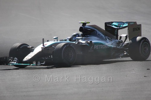 Nico Rosberg in Free Practice 1 for the 2015 Belgium Grand Prix