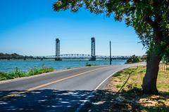 Rio Vista Bridge (DuggieH) Tags: water northerncalifornia bridges rivers sacramentoriverdelta sacramentoriver riovista solanocounty californiadelta riovistabridge cahighway12