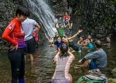 Splashing around in waterfall #3.... (antwerpenR) Tags: china hk cn hongkong asia southeastasia meetup hiking hike asean