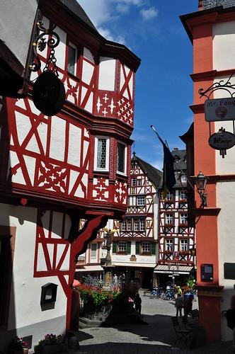 Les maisons de  Bernkastel, commune de Bernkastel-Kues, landkreis de Bernkastel-Wittlich, Rhénanie-Palatinat, Allemagne.