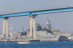 USS Comstock (LSD-45) and USS Pearl Harbor (LSD-52) (mojave955) Tags: california ship sandiego navy lsd socal southerncalifornia coronado usnavy warship coronadobridge  usspearlharbor lsd52 lsd45 usscomstock docklandingship   harpersferryclass whidbeyislandclass