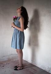 """Solitude et Fantmes"" (ElisaPaciPhotography) Tags: flowers light portrait woman art beautiful beauty fashion hair model hands artist loneliness shadows dress emotion fineart silence concept shoulders conceptual ritratto peonies elegance"
