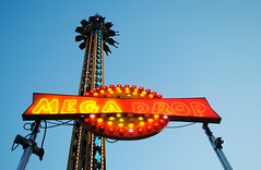 Mega Drop, Walworth County Fair (Cragin Spring) Tags: summer sky usa tower wisconsin lights ride unitedstates dusk unitedstatesofamerica fair countyfair wi elkhorn 2015 walworthcountyfair elkhornwi walworthcounty megadrop elkhornwisconsin