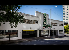 Mayo Motor Inn (Stitch-Jones) Tags: streets building art oklahoma canon inn downtown sigma mayo motor tulsa cinematic deco 1835mm 550d t2i