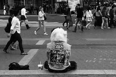 MyTubeNYC (MyTubeNYC ( Gediminas Jankevicius )) Tags: street city nyc portrait urban bw newyork underground mono candid streetphotography noise clubkid blackwhitephotos mytubenyc gediminasjankevicius