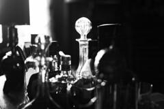 City of Spirits (S. Hemiolia) Tags: bw bottles spirits whisky liquori