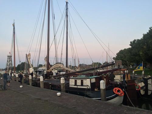 Dawn in Enkhuizen harbor