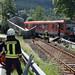 Zugunfall - LKW kollidiert mit Personenzug
