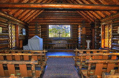 Chapel with a view (Chief Bwana) Tags: church chapel wyoming nationalparks grandteton wy picturewindow grandtetonnationalpark chapelofthetransfiguration psa104 chiefbwana