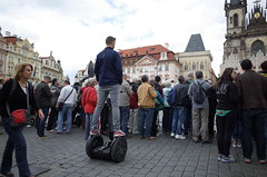 Segways, not just for transportation (milov) Tags: trip people czech prague crowd praha ricohgr oldsquare