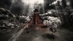 Apocalypto (Arek_KN) Tags: light red bw contrast ray pyramid maya dramatic hardlight