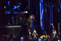 Janet in the Rain (Atl360Pic) Tags: show park atlanta music rain night photoshop concert availablelight live cellphone telephoto paparazzi recreation janetjackson topaz chastain chastainpark