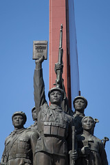 Mansudae Grand Monument during 70th anniversary of Workers' Party (bvoneche) Tags: kp pyongyang coredunord
