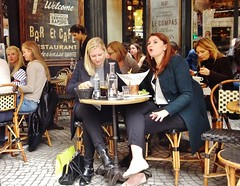 2015-10-24  Paris - Le Compas - 62 Rue Montorgueil (P.K. - Paris) Tags: street autumn people paris caf automne french october terrace candid terrasse sidewalk octobre 2015
