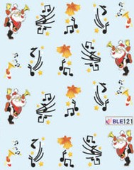 BLE121 (Jasmeet.k) Tags: santa christmas xmas tree art water nail slide musical decal transfer nailart bombastic