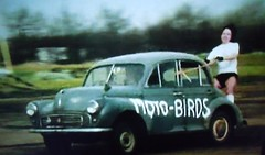 Seventies stuntwoman (scouse73) Tags: 2 car series morris minor seventies nineteen stunts
