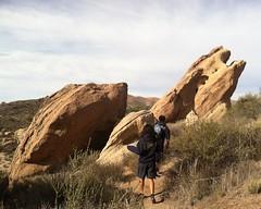 023 Into The Rocks (saschmitz_earthlink_net) Tags: california boulder orienteering participant rockformations aguadulce vasquezrocks losangelescounty 2015 laoc losangelesorienteeringclub