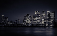 Canary Wharf, London (S.A.W. Pixels) Tags: england blackandwhite building london thames architecture canon buildings river mono flickr unitedkingdom district picture dramatic snap architectural wharf 7d cinematic canarywharf riverthames banks giantbuilding canon7d