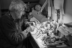 The Watchmaker (Foto John) Tags: leica bw man london monochrome blackwhite working rangefinder hornsey clockmaker watchmaker occupation horology tradesman lightandshade leicam8 summicronm35mmf2asph leicam82 blackandwhitethatsright