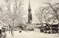 St Mary's Catholic Church Snow Scene