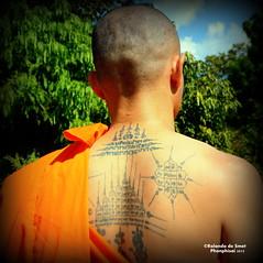 A strange message (tGENTeneeRke along the Mekong river) Tags: thailand buddhistmonk phonphisai tgenteneerkealongthemekong provincekhonkaen astrangemessage copyrightrolandodesmet2015 districtphuwiang