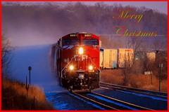 Merry Christmas, (sdl39hogger) Tags: canadianpacific erie cp ge richwood gevo geevolution generalelectriclocomotives watertownsub reesevillemarsh gevolivesmatter