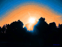 Sunset (Stephenie DeKouadio) Tags: canon outdoor photography painting abstract abstractart art sky sunset sun darkandlight virginia color colour colorful