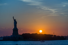 Liberty at Sunset (Octal Photo) Tags: 500px sky city travel old tourism architecture building monument statue art ancient landmark liberty sightseeing new york jersey sunset water waterfront clouds sun uncategorized