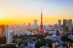 Tokyo (Cheng Yang, Chen) Tags: tokyotower tokyo sunset worldtradecenter