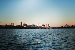 Boston (marchythebluefish) Tags: river water skyline view sunset photography canon