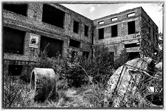 Derelict Soviet Era Buildings (Instagram: @tonyhodsonphoto) Tags: osh kyrgyzstan ussr soviet buildings derelict decay old history streetlife photography former union blackandwhite sepia monochrome