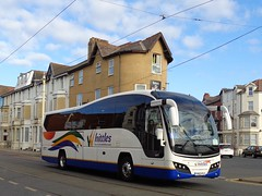 YX62FLC Whittles on the move past the Colliseum on Lytham Road in Blackpool (j.a.sanderson) Tags: colliseum blackpool coaches coach 2013 plaxtonelite volvob9r kidderminster whittles yx62flc