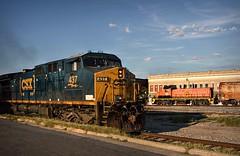 Sometimes things work out (builder24car) Tags: railfanning benchingthefreights railroad locomotive csx csx437 ac44cw atw atlanticandwestern imrr30 rs1325 sline leecounty downtown sanfordnorthcarolina
