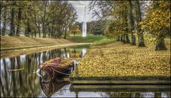Boughton Autumn 5 (Darwinsgift) Tags: boughton house gardens water canal northamptonshire autumn voigtlander 58mm f14 nokton sl ii nikon d810 fountain leaves trees reflection hdr photomatix