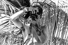 say cheese (-gregg-) Tags: bw nikon camera palm trees shadows tattoo island sunlight beach son vacation