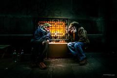 street fight (Ivan Peki - www.ivanpekic.com) Tags: street fight dark light people think thinking night chess belgrade game