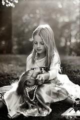 It's all about the Hair! BW (Teresa Ramella) Tags: girl kid child outdoors outside babydoll americangirldoll doll littlegirl