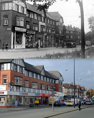 Allerton Road, Allerton, 1960s and 2016 (Keithjones84) Tags: liverpool oldliverpool merseyside history localhistory thenandnow rephotography allerton cressington grassendale